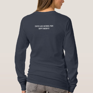 Crater Lake National Park Happy Holidays T-Shirt