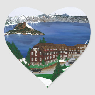 Crater Lake National Park Heart Sticker