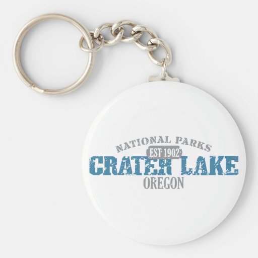 Crater Lake National Park Basic Round Button Keychain