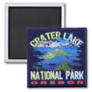 Crater Lake National Park Oregon 2 Inch Square Magnet