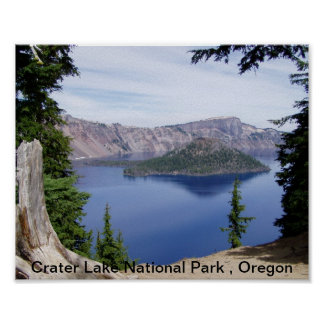 Crater Lake National Park , Oregon Poster