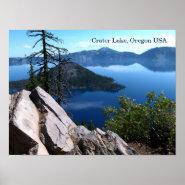 Crater Lake National Park Oregon USA Travel Poster
