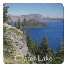 Crater Lake National Park Photo Stone Trivet