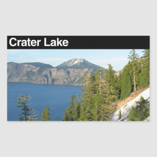 Crater Lake National Park Rectangular Stickers