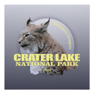 Crater Lake NP (Lynx) WT Poster