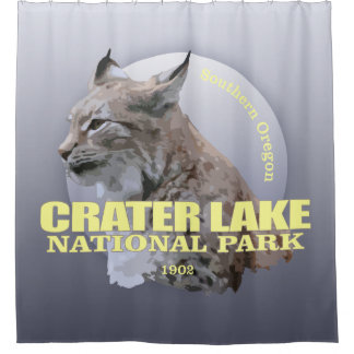 Crater Lake NP (Lynx) WT Shower Curtain