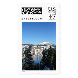 Crater Lake, OR. Postage Stamp
