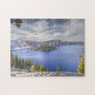 Crater Lake Oregon National Park Usa Puzzle