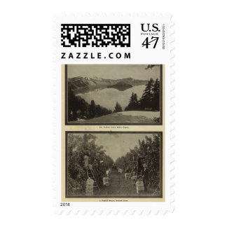 Crater Lake Oregon Orchard scene Postage Stamp