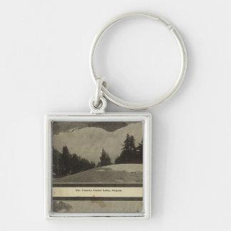 Crater Lake Oregon Orchard scene Silver-Colored Square Keychain