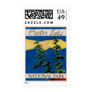 Crater Lake Oregon Postage Stamp
