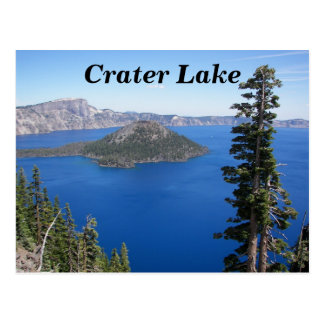 Crater Lake, Oregon Travel Photo Postcard