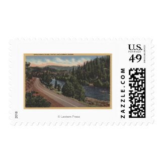 Crater Lake, Oregon - Upper Rogue Postage Stamp