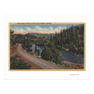 Crater Lake, Oregon - Upper Rogue Postcard