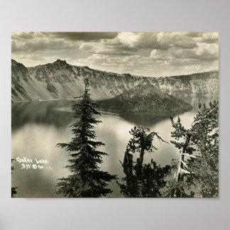 Crater Lake, Oregon Vintage Poster