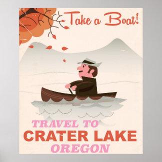 Crater Lake Oregon Vintage travel poster