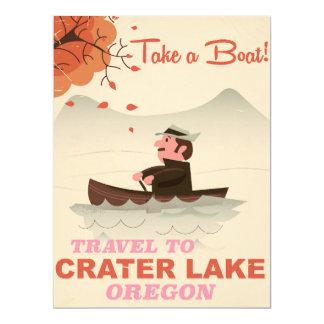 Crater Lake Oregon Vintage travel poster Card