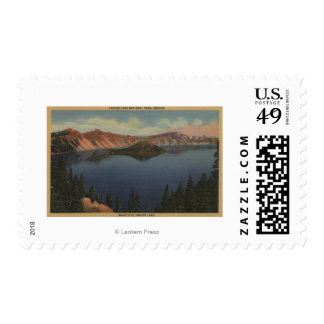 Crater Lake, Oregon - Wizard Island View #2 Postage Stamp