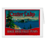 Crater Lake Pear Crate LabelMedford, OR Card
