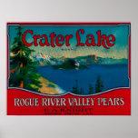 Crater Lake Pear Crate LabelMedford, OR Print