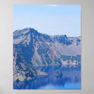 Crater Lake Phantom Ship Poster