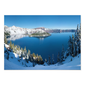 Crater Lake South Central Oregon in Winter Card