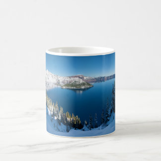 Crater Lake South Central Oregon in Winter Coffee Mug