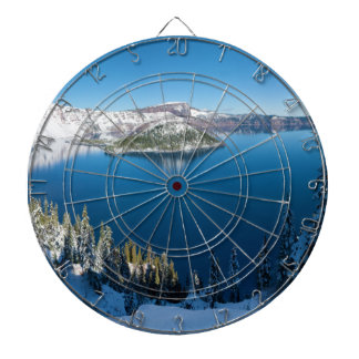 Crater Lake South Central Oregon in Winter Dartboards