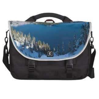 Crater Lake South Central Oregon in Winter Bags For Laptop