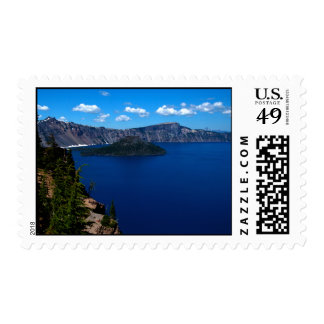 Crater Lake  Wizard Island Stamp
