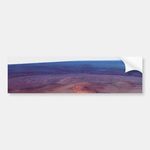 Cráter Marte del esfuerzo de York del cabo del asi Pegatina De Parachoque