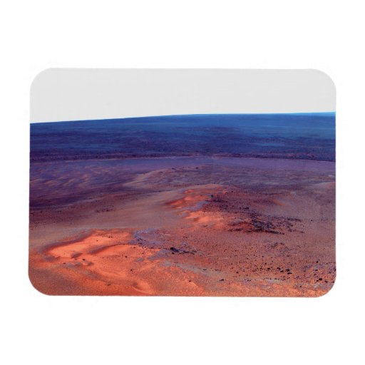Cráter Marte del esfuerzo de York del cabo del asi Iman Rectangular