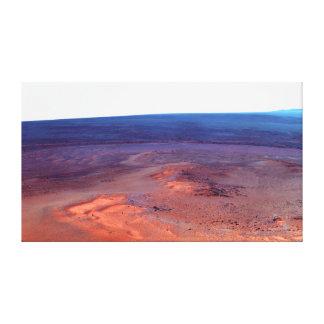 Cráter Marte del esfuerzo de York del cabo del asi Lona Envuelta Para Galerías