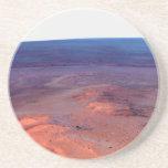 Cráter Marte del esfuerzo de York del cabo del asi Posavasos Personalizados