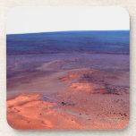 Cráter Marte del esfuerzo de York del cabo del asi Posavasos De Bebidas