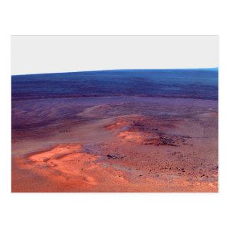 Cráter Marte del esfuerzo de York del cabo del asi Tarjetas Postales
