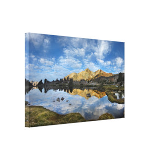 Crater Mtn over Twin Lakes - John Muir Trail Canvas Print