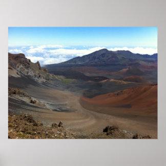 Crater of Haleakala Volcano, Maui, Hawaii Poster