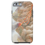 Crater of Mount Vesuvius from an original drawing iPhone 6 Case