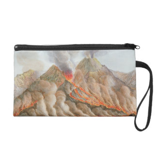 Crater of Mount Vesuvius from an original drawing Wristlet
