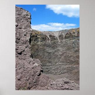 Crater of Mt.Vesuvius(3) Print