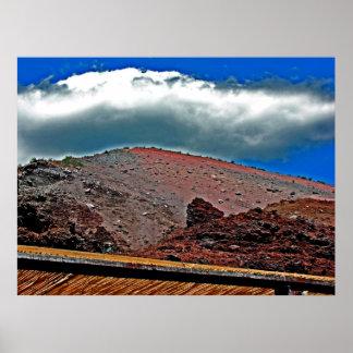 Crater of Mt. Vesuvius(3) Print