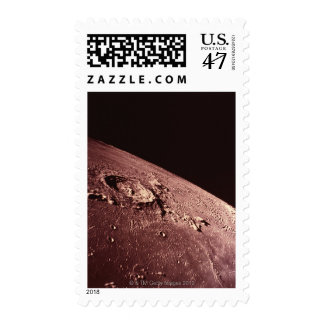 Crater on the Moon Postage Stamp