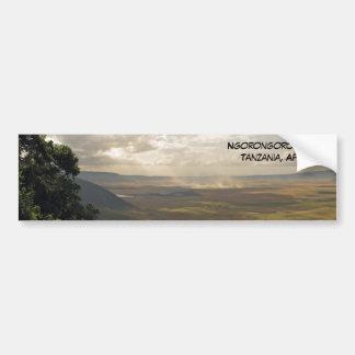 Cráter Tanzania, África de Ngorongoro Etiqueta De Parachoque