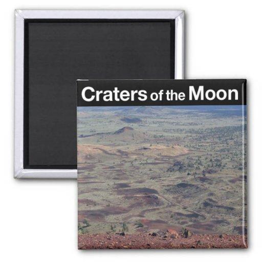 Cráteres del monumento nacional de la luna imán cuadrado