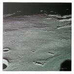 Cráteres en la luna azulejo cuadrado grande