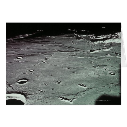 Cráteres en la luna tarjeta de felicitación