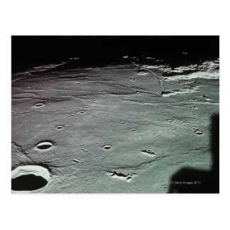 Cráteres en la luna tarjeta postal