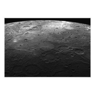 Cráteres grandes en el planeta Mercury Arte Fotografico