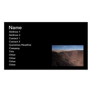 Cráteres grandes tarjetas de visita